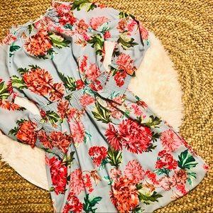 ELLA MOON • Light Blue Floral Dress • Medium • NWT